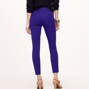 J crew Minnie blue purple skinny pants 2